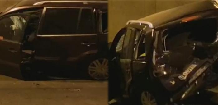 Aksident brenda tunelit Tiranë-Elbasan, plagosen dy drejtuesit e mjeteve, nisen me urgjencë në spital (FOTO)