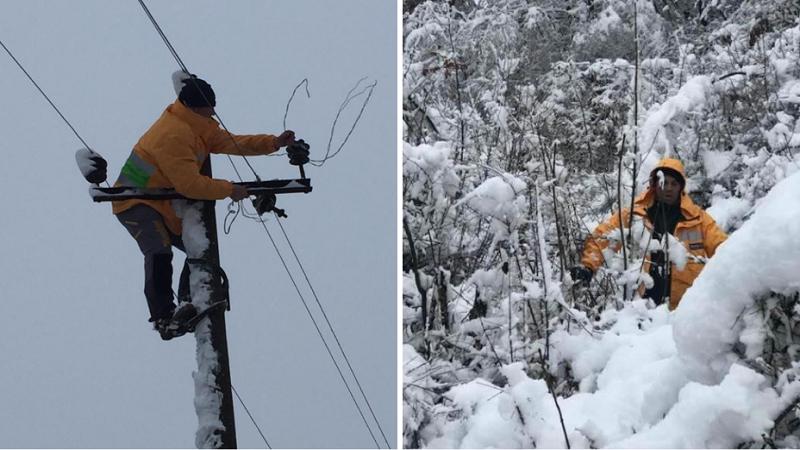 Fotot/ Dëbora sjell problemet e para, raportohet për defekte në zonat veriore! 1500 punonjës të angazhuar