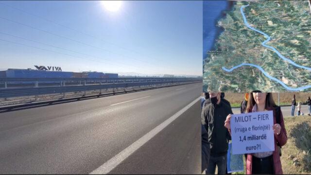 Aktivistet  bejne thirrje nga qyteti i Fierit ndaj qeverise qe te anuloje koncesionin e rruges Milot-Fier.