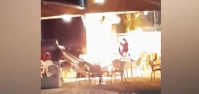 Shpërthen bombula në një lokal në Durrës, zjarri rrezikon bizneset përreth si edhe kalimtarët