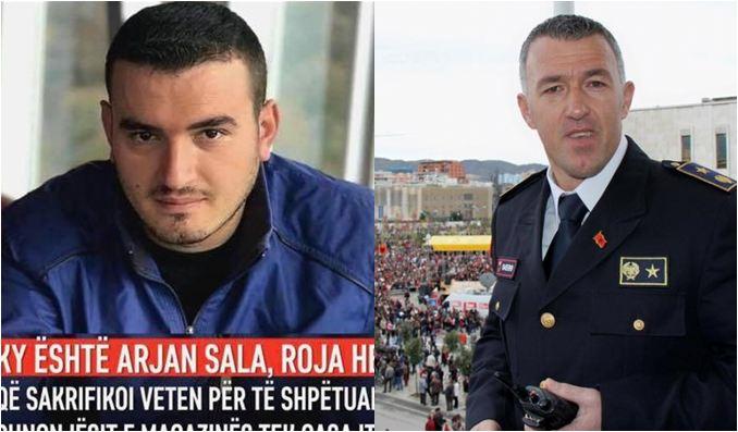 """""""Doja të shkruaja i pari"""", Erzen Breçani përlot me dedikimin për punonjësin Arjan Sala: Veprimin e tij do e kishte zili çdo polic, i kërkojmë prefektit ta shpallë """"Dëshmor të Atdheut"""""""