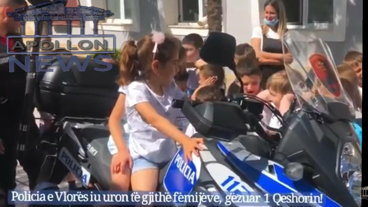 Policia e Vlorës iu uron të gjithë fëmijëve Gëzuar 1 Qershorin