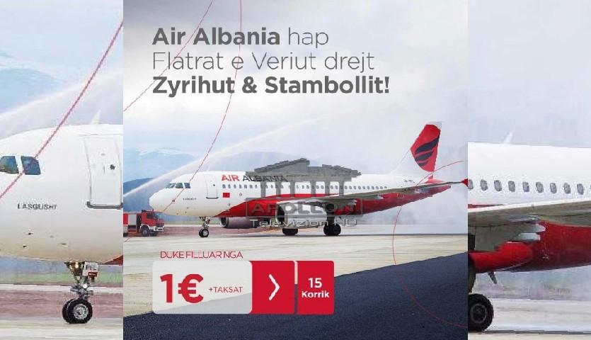 Duke filluar nga 15 Korriku, nlisin fluturimet nga aeroporti i Kukësit drejt Zyrihut e Stambollit