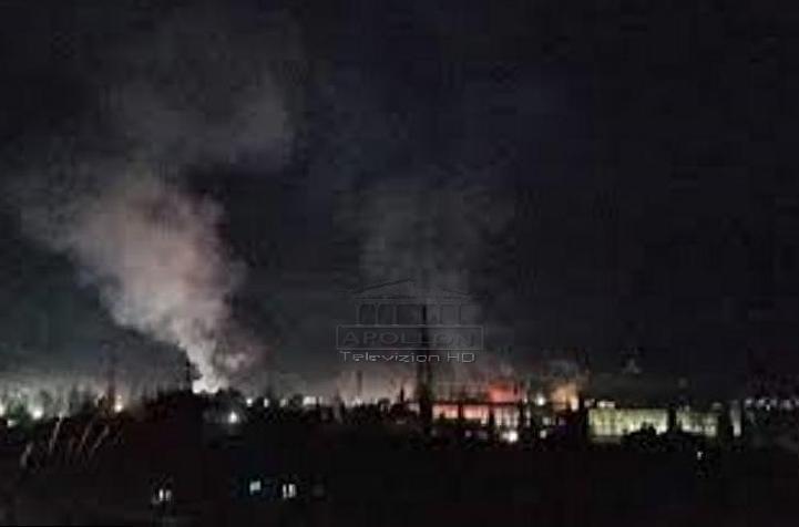 Një shpërthim i fuqishëm është regjistruar mbrëmjen e sotme në Elbasan.