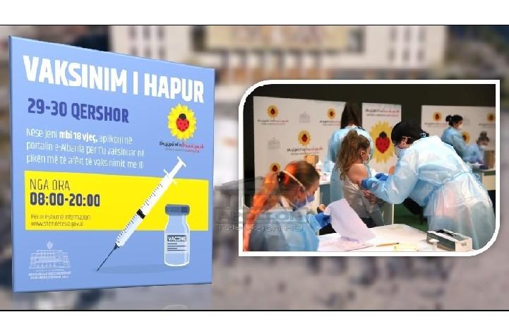 Sot dhe nesër ditët e hapura të vaksinimit anti-COVID, mbi 19 mijë qytetarë +18 vjeç kanë aplikuar në E-Albania për t'u vaksinuar