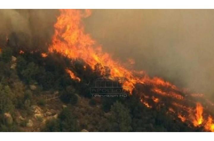 Dy vatra zjarri në Kurbin dhe Krujë, rrezikohen banesa dhe shtylla e tensionit të lartë