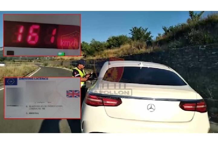 """""""Pikë plumbi"""" me super BENZ, arrestohet i riu me patentë angleze false që lëvizte me 161 km/h në Fier-Vlorë"""