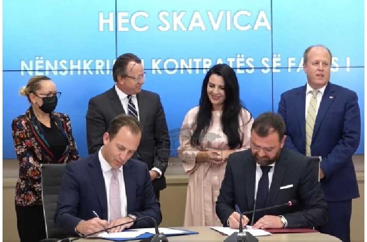 Ndërtimi i Hec Skavicës, firmoset kontrata e parë mes kompanisë amerikane Bechtel dhe KESH