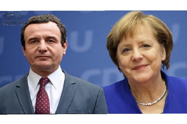 """Pas takimit me Ramën, Angela Merkel """"kokë më kokë"""" me Kurtin"""
