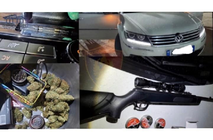 Pushkë, kokainë dhe kanabis, arrestohen katër persona në Durrës